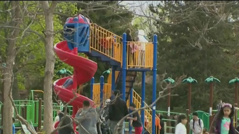 Area parks packed despite stay-at-home order