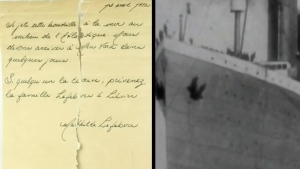 Message in a bottle found from the Titanic?