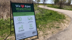 Ajax is imposing a larger parking fees for non-residents to discourage travel and gathering between regions. (Mike Walker/CTV News Toronto)