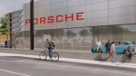 Artist's render of a proposed Porsche dealership at the corner of Montreal Road and St. Laurent Boulevard in Ottawa. (Image by Q9 Planning and Design, prepared for Mark Motors of Ottawa. Obtained via City of Ottawa)