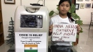 Climate activist Licypriya Kangujam has been raising money to send oxygen concentrators to COVID-19 patients. (Licypriya Kangujam / Ketto)