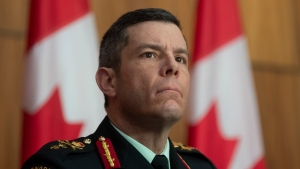 Major General Dany Fortin listens to a question during a news conference Tuesday January 5, 2021 in Ottawa. THE CANADIAN PRESS/Adrian Wyld