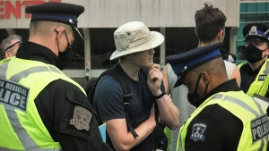 Police in Halifax have arrested and charged an unknown number of people in relation to two separate illegal gatherings that occurred in Halifax on Saturday.