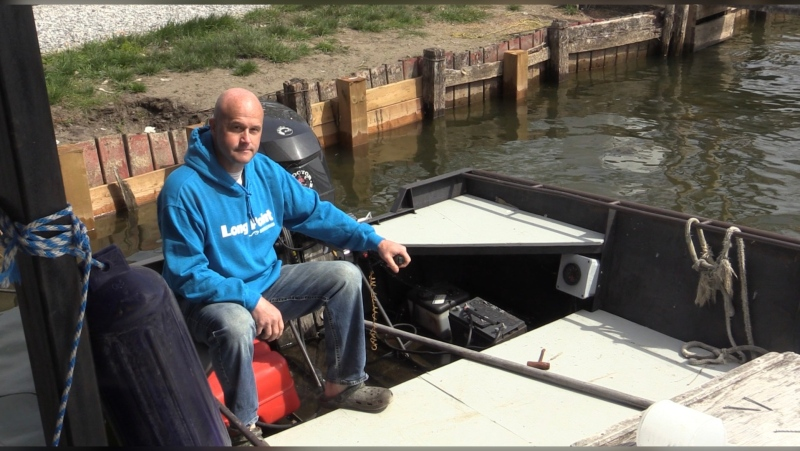 Ray Ferris, owner of Old Cut Boat Livery in Long Point - Saturday, May 15, 2021 (Brent Lale / CTV News)