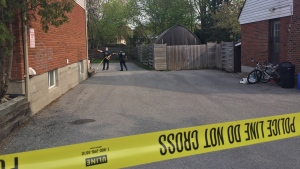 Barrie police are investigating a stabbing incident on Blake Street on May 15 (Steve Mansbridge/CTV News Barrie)