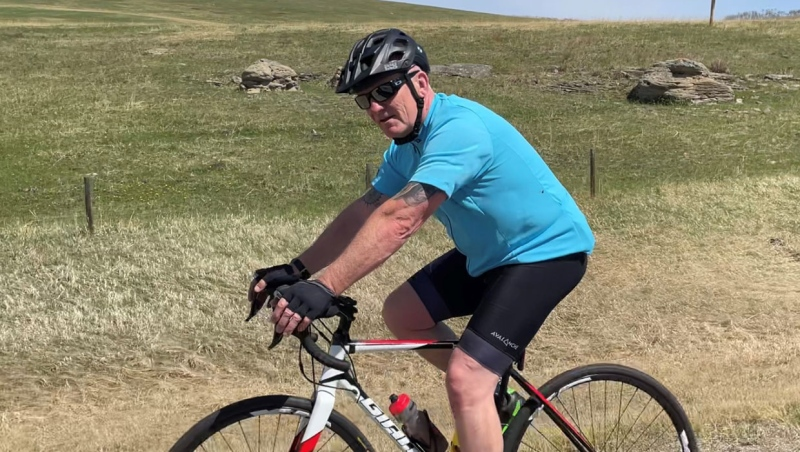 Ian McCaughtrie, a veteran police officer and former member of the RAF, rode to raise money for a variety of charities on Saturday.
