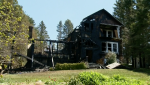 A home in Black Point, N.S. was destroyed by a fire early Saturday morning.