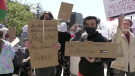 A rally supporting Palestine was held in Saint John on Saturday.