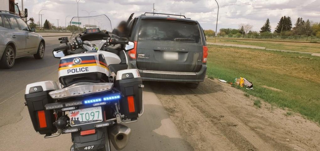 Saskatoon driver caught smoking