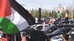 Edmontonians gathered to show support for Palestinians. Saturday May 15, 2021 (CTV News Edmonton)
