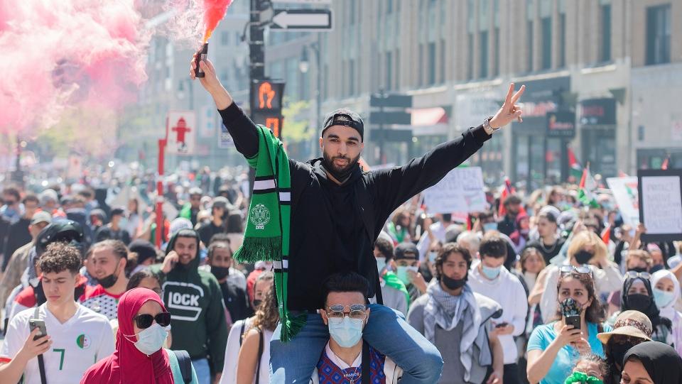 Montreal Palestinian rally