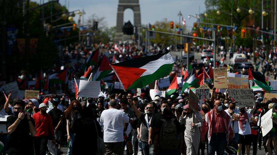 Ottawa pro-Palestinian rally
