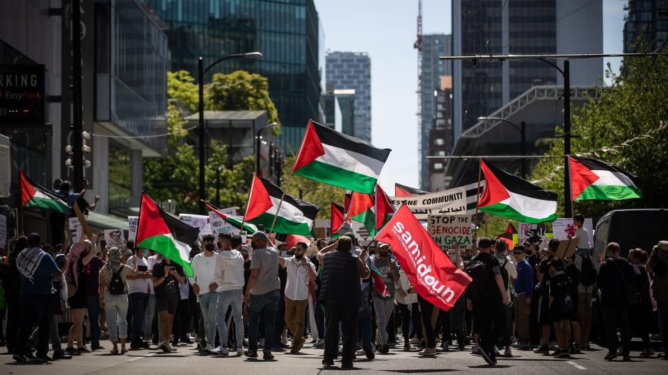 Vancouver pro-Palestinian march