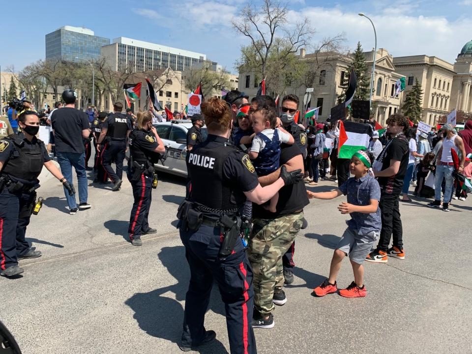 protest at Legislature