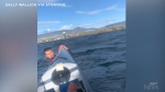 Woman rescues struggling kayaker in B.C.