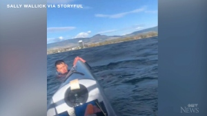 Woman rescues struggling kayaker in B.C.