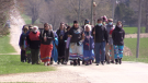 Saugeen Ojibway Nation Water Walk near Teeswater, Ont. on April 14, 2021. (Scott Miller/CTV London)