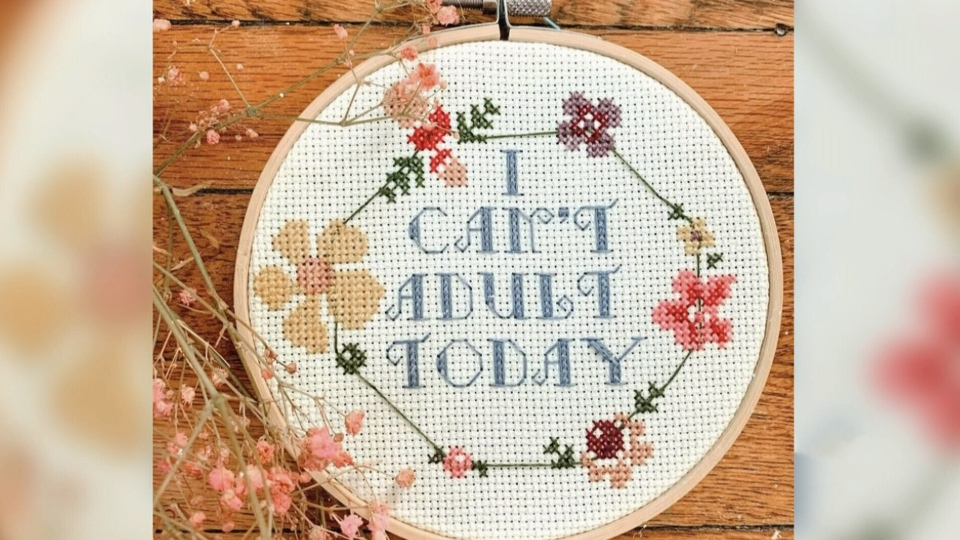 Stitching together some joy