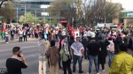 Calgary rally supports victims of violence in Gaza