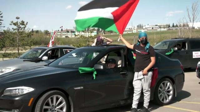 Palestinian car rally