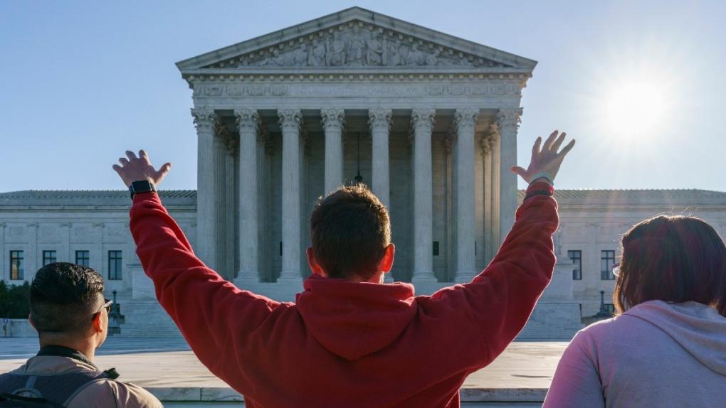 Anti-abortion activists at the U.S. Supreme Court