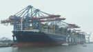 Halifax port welcomes largest container ship ever