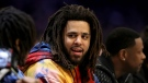 "J. Cole is having quite the weekend with not only the Friday release of his album, ""The Off-Season,"" but also his debut in the Basketball African League. (Streeter Lecka/Getty Images via CNN)"