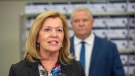 Ontario Health Minister Christine Elliott speaks at he daily briefing at Humber River Hospital in Toronto on Tuesday November 24, 2020. THE CANADIAN PRESS/Frank Gunn