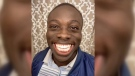 Borzah Yankey shows off his enormous grin on his TikTok channel, where other users duet his videos showing their own smiles in response.