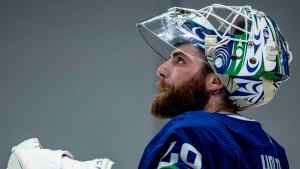 With only three games left in what should prove to be one of the tumultuous seasons in team history, the Canucks offered up an improbable four-goal, third-period comeback that was ultimately capped by a 6-5 overtime loss on May 16, 2021. The rollercoaster is just getting going as the off-season could prove to be as unpredictable as the regular season, thanks to some huge looming questions that will have to be answered both on and off the ice. (Anil Sharma, photographer)