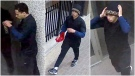 Calgary police released photos of a suspect in a series of robberies in the downtown core and Beltline areas. (Calgary police handout)