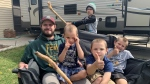 Jay Merritt and his family plan will be camping as much as possible this year. (Carla Shynkaruk/CTV Saskatoon)