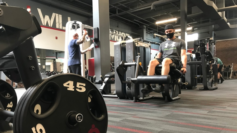 Performance 360 Fitness and Health Club in Chatham, Ont. is allowed to have members in their facility despite a lockdown on Monday, May 17, 2021. (Michelle Maluske/CTV Windsor)