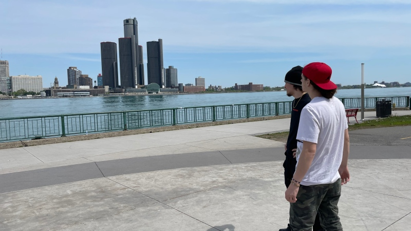 Windsor resident Joseph Uras on the riverfront in Windsor, Ont., on Monday, May 17, 2021. (Melanie Borrelli / CTV WIndsor)