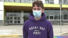 Grade 12 student Oscar Wood says his heart sank when he heard about what happened to the school's rainbow crosswalk, a project he helped lead: (CTV News)