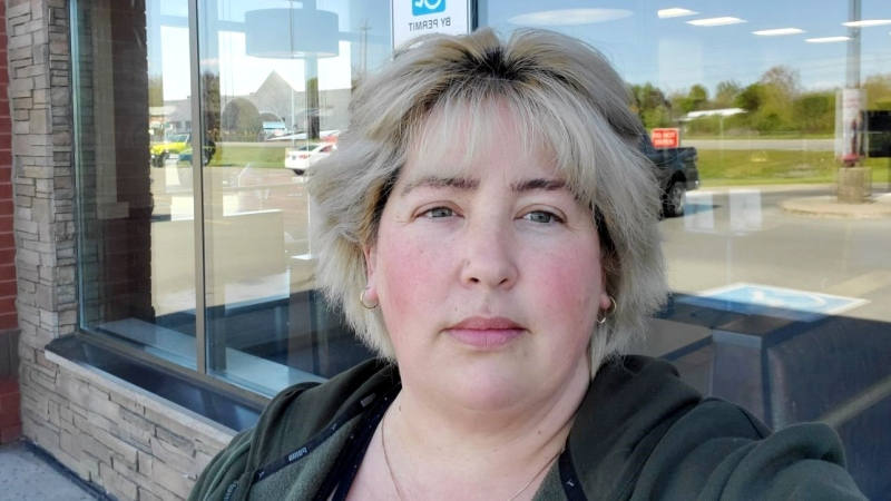 Carolyn Wells says she choked on a screw that was left in a Tim Hortons ice coffee last month.  (Supplied)