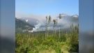Smoke from a wildfire, near Harrison Mills B.C. and which broke out on Saturday, May 15, 2021, can be seen from afar. (Submitted photo)