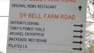 A small business owner on Bell Farm Road says the recent construction has driven customers away due to signage initially posted incorrectly (Kraig Krause/CTV News Barrie)