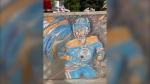 Devon chalk art