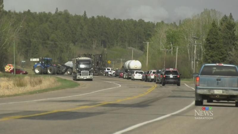 Evacuations near Prince Albert