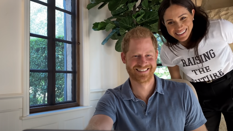 "The Duke and Duchess of Sussex, Prince Harry and Meghan Markle, are seen in trailer for ""The Me You Cant See."" (YouTube/Apple TV"