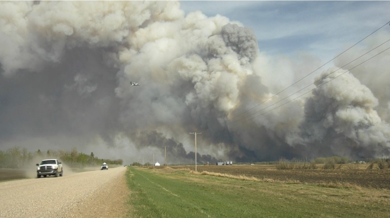 Fire burning near Hwy 55 east of Prince Albert.