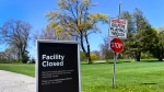 A closed Lakeview Golf Course facility is shown during the COVID-19 pandemic in Mississauga, Ont., on Wednesday, May 12, 2021. THE CANADIAN PRESS/Nathan Denette