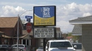 North Bay chiropractor's sign takes aim at restaurant in friendly 'sign war' competition. May 17/21 (Eric Taschner/CTV Northern Ontario)