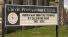 North Bay's Calvin Presbyterian Church has joined the local 'sign-war' competition. May 17/21 (Eric Taschner/CTV Northern Ontario)