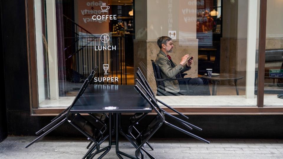 A cafe in Soho, London