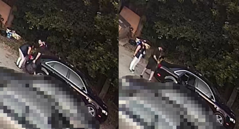 Two people are seen leaving a vehicle belonging to Grant Edward Norton in London, Ont. on Monday, July 6, 2020. (Source: London Police Service)