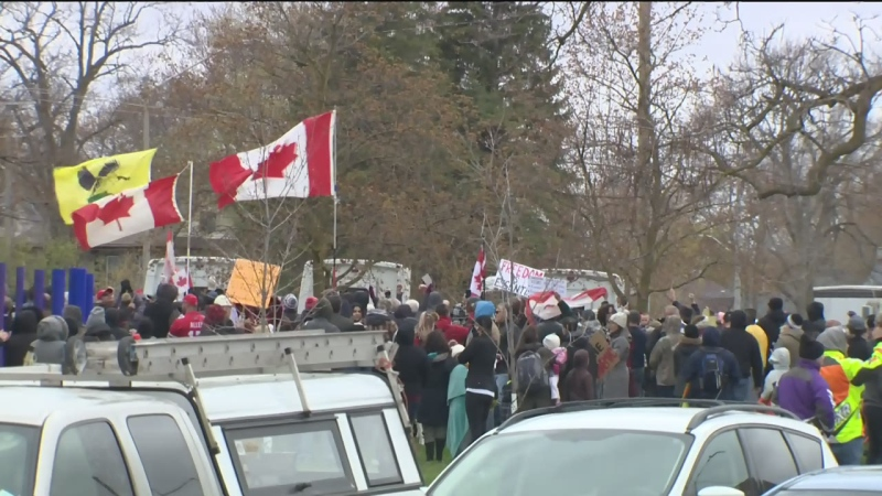 27 charges laid for Waterloo 'anti-lockdown' rallies