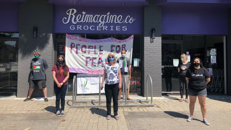 Reimagine Co. in London, Ont. has been declared an 'apartheid-free zone,' Tuesday, May 18, 2021. (Jordyn Read / CTV News)