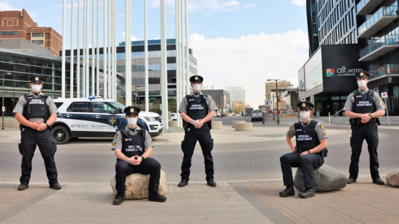 Saskatoon Police Service has sworn in five Alternative Response Officers as a new tier of public safety service. (SPS)